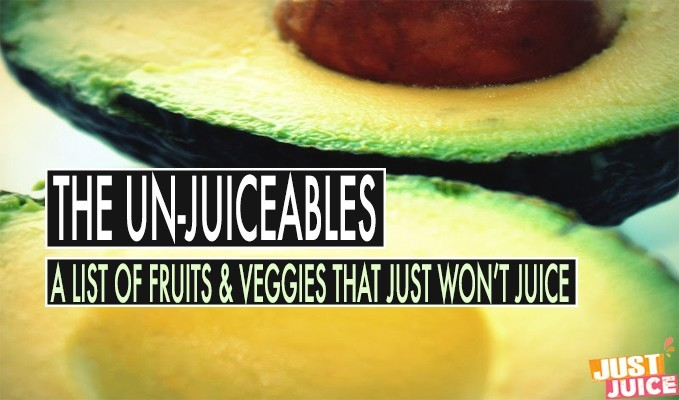 WHAT FRUITS AND VEGETABLES CAN'T YOU JUICE