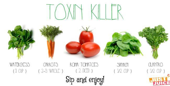 detoxing juice to flush out toxins