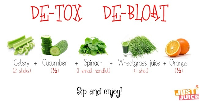 detoxifying juice cleanse to help with bloating